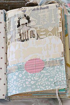 Scrapbook journal: Idea from http://www.flickr.com/photos/sweetpeaink/4346758382/in/set-72157612478704423