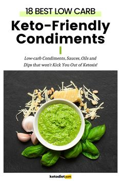 Keto Condiments - We've put together the best low-carb keto condiments guide with sauces, dips and fats.