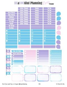 Create – Free Planner Printable | BEaYOUtiful Planning