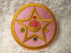 Cosplay Patch Sailor Moon - Embroidered Anime Sew-On Pink, Gold Star, Crescent Moon Patch on Etsy, $7.75