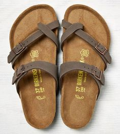 Brown Birkenstock Mayari Sandals: