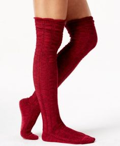 Free People Fray Pointelle Over-The-Knee Socks
