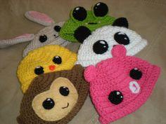 baby animal hats: monkey, frog, bunny, duck,panda @Shelley Parker Herke Parker Herke Jackson