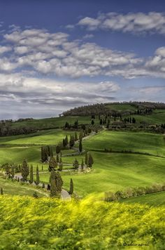 Val d'Orcia, Tuscany, Italy. would be an excellent bike ride.