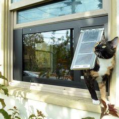 Patio Pacific Endura Flap Thermo Sash 3e   Sash Window Cat U0026 Dog Door