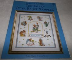 Beatrix Potter The Tale Of Peter Rabbit Sampler Cross Stitch Pattern Book