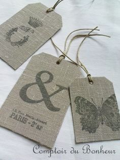 Stamping on fabric tags