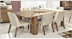 TV ünitesi, 6 sandalye ve 1 masadan oluşan Lady yemek odası takımı 2 yıl garantiye sahiptir. Dining Table, Furniture, Home Decor, Decoration Home, Room Decor, Dinner Table, Home Furnishings, Dining Room Table, Diner Table