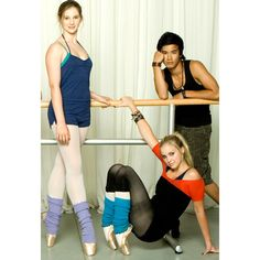 Xenia Goodwin (Tara Webster), Alicia Banit (Kat Karamakov), and Jordan Rodrigues (Christian Reed) -Dance Academy