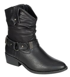 Reneeze Womens Ankle High Cowboy Style Riding Boots - BLACK * Trust me, this is great! Click the image. : Western boots