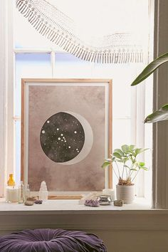 Slide View: 1: Claire Goodchild Moon & Stars Taurus Art Print