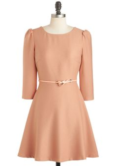 Apricot Your Attention Dress, #ModCloth