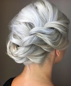 Braided Silver Updo