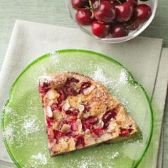 Puffed Cherry Pancake @keyingredient #breakfast
