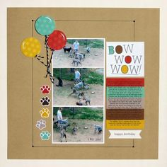 Bow Wow Birthday by sillypea at @studio_calico - color inspiration