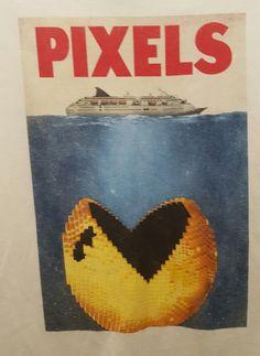 Pixels The Movie Pac Man T-Shirt - Mens Large #PixelsTheMovie #GraphicTee