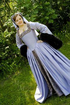 Anne Boleyn The Tudors dress gown Renaissance costume REPRODUCTION CUSTOM. $600.00, via Etsy.
