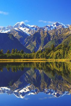 South Island - I'm guessing this view is from the West Coast looking to the Southern Alps, New Zealand