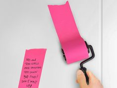 """Fred Roller Notes - This classic roller """"paints"""" on a fresh layer of self-stick notepaper wherever you need it most. Just trim then to whatever size you like. GetdatGadget.com"""