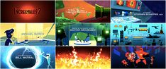 The Incredibles 2 — Art of the Title Art Of The Title, Superhero Kids, A Bug's Life, Wall E, Title Sequence, Disney And Dreamworks, Motion Graphics, Movie Tv, The Incredibles