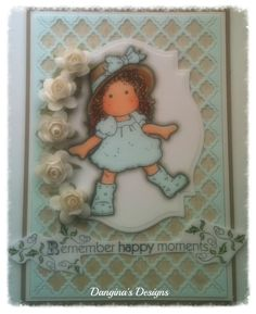 MyCarden: Remember Happy Moments - loves Rubberstamps Sensational Sunday Blog Hop - TILDA WITH RUBBER BOOTS, Butterfly Dreams, Magnolia Tuxedo Black Ink Mono Multi Liquid Glue