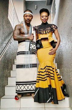 Inside Bontle Modiselle & Priddy Ugly's Traditional Wedding Sepedi Traditional Dresses, South African Traditional Dresses, African Traditional Wedding, Xhosa Attire, Zulu Women, African Fashion Designers, Africa Fashion, African Dress, African Attire
