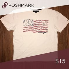 TOMMY HILFIGER AMERICAN FLAG TEE Size: Medium Condition: Pre-owned - Great Price: $15 Tommy Hilfiger Shirts Tees - Short Sleeve