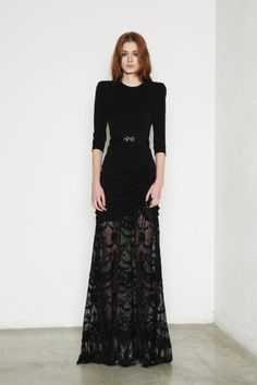 Alessandra Rich fall 2013: black lace #fashion show #runway