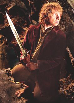 Bilbo Baggins...He s my second favorite character.Thorin's first,(of course,I can understand him mostly and I find him awesome)then Bilbo,then Fili and Kili cuz they are funny.