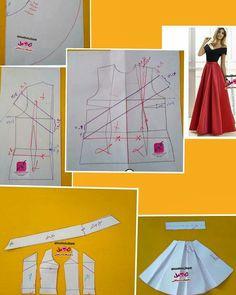 Best 8 Ideas moda infantil feminina molde for 2019 – SkillOfKing. Evening Dress Patterns, Dress Sewing Patterns, Sewing Patterns Free, Clothing Patterns, Fashion Sewing, Diy Fashion, Ideias Fashion, Moda Fashion, Diy Clothing