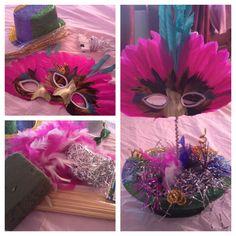 Masquerade party centerpiece