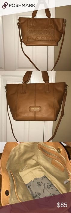 Isabelle Fiore Morocco Satchel Cognac colored beautiful bag with strap! Isabella Fiore Bags Satchels