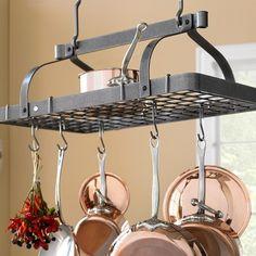 Enclume Grande Cuisine Rectangular Ceiling Pot Rack #williamssonoma