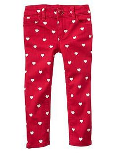 heart skinny jeans from the gap.  gift for kids... wish they made a grown-up version!  #valentinesday