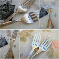 I Do Me Too Vintage Wedding Fork Set Featured In by PrettyParis, $19.99