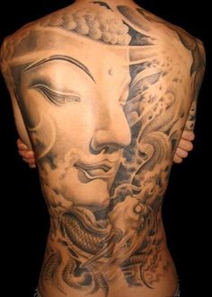 full back #Buddha #tattoo asian-ethic-tattoo-inspiration