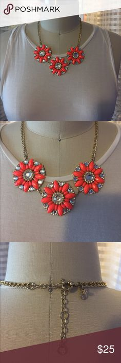 J Crew necklace J crew necklace. Pink color with jewels great condition only worn once or twice. J. Crew Jewelry Necklaces