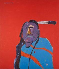 #ARTIST Fritz Scholder - American Portrait with One Eye, 1975.