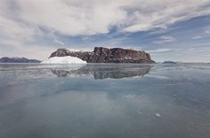Sea ice landscape in Uummannaq, Greenland