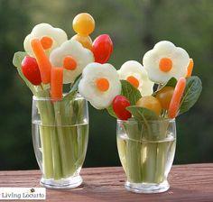 Living Locurto Veggie Flower Bouquet Treat