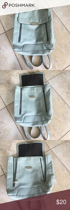mossimo backpack (back to school) school supplies mossimo backpack used once. As you can tell from the picture only the top part is slightly worn out but other wise in perfect condition . Ask me anything ! Defiantly bundle with my other stuff ! One free ear cuff ! Mossimo Supply Co Bags Backpacks