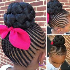 Lil Girl Hairstyles, Black Kids Hairstyles, Girls Natural Hairstyles, Kids Braided Hairstyles, African Braids Hairstyles, Princess Hairstyles, Girl Haircuts, Pretty Hairstyles, Little Girl Braids