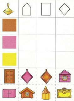 play on the development of logic Fun Worksheets For Kids, Shapes Worksheets, Preschool Worksheets, Preschool Education, Preschool At Home, Montessori Toddler, Montessori Activities, Visual Perception Activities, Brain Teasers For Kids