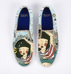 Custom shoe illustrations by Gizem Vuralcan you see your self in these with your crop pants or a very cute dress...