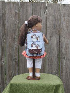Shih Tzu Dog Puppy Backpack 18 17 16 15 Inch Doll American