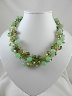 ... Crocheted Wire Necklace and Earrings   Jewels2aT - Jewelry on ArtFire