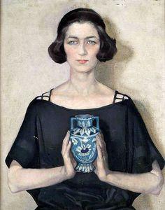 Portrait of Audrey, 1921 by Anna Zinkeisen.