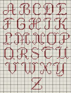 Sylvie abc Grille Embroidery Alphabet, Embroidery Patterns, Stitch Patterns, Cross Stitching, Cross Stitch Embroidery, Hand Embroidery, Cross Stitch Letters, Cross Stitch Charts, Crochet Letters
