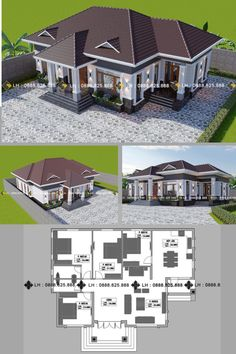 Because there are road works going on I decided to take another route going to work today and as I was driving I passed by a newly constructed bungalow that Sims House Plans, House Layout Plans, New House Plans, House Layouts, Bungalow Floor Plans, Modern Bungalow House, 2 Storey House Design, Bungalow House Design, Philippines House Design