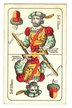 William Tell on Hungarian playing cards.